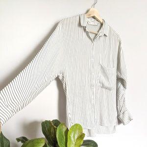 Zara trafaluc striped blouse -